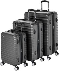 premium hardside spinner luggage with built in