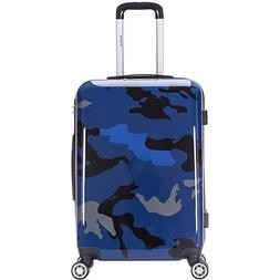 "inUSA Luggage Prints 24"" Lightweight Hardside Checked Spinne"
