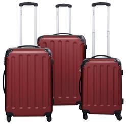 Purple Hardsided Luggage Set  Nesting Suite Cases Trolley Su