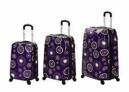 Rockland 3-pc. Purple Multi Vision Polycarbonate/ABS Luggage