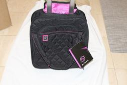 quilted rolling underseat carry on luggage new