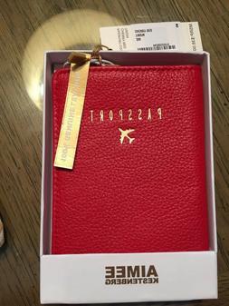 AIMEE KESTENBERG Red Leather Passport Holder, NWT