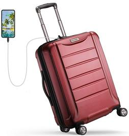 REYLEO Expandable Luggage 21 Inch PC Carry on Luggage Travel