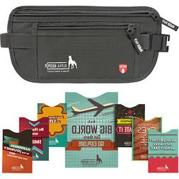 Alpha Keeper RFID Money Belt and RFID Sleeves Set Travel Wal