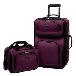 U.S. Traveler RIO 2-Piece Expandable Carry-On Luggage Set, P