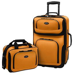 U.S. Traveler RIO 2-Piece Expandable Carry-On Luggage Set, M