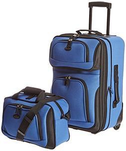 U.S. Traveler RIO 2-Piece Expandable Carry-On Luggage Set, B