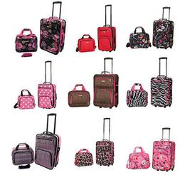 Rockland Rio Upright Carry-On & Tote 2-Piece Luggage Set