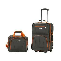 Rockland Rio Upright Carry-On & Tote 2-Piece Luggage Set - C