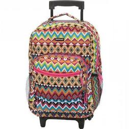 Rockland Luggage Roadster 17 Rolling Backpack