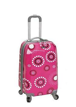 Rockland Luggage 20 in. Polycarbonate Carry On Luggage - Pin