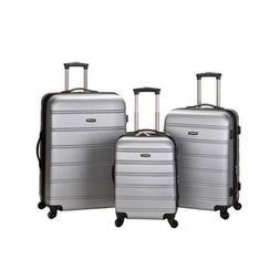 Rockland Melbourne 3-Piece Hardside 360-Degree Spinner Lugga