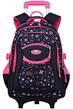 Rolling Backpack, Coofit Wheeled Backpack School Kids Rollin