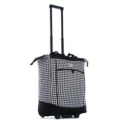 Olympia 20 Inch Fashion Rolling Carry-On Wheeled Shopper Sui