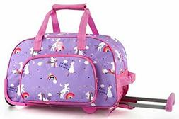 Heys Kids 18 Inch Rolling Duffel Bag Shoulder Bag - Unicorn