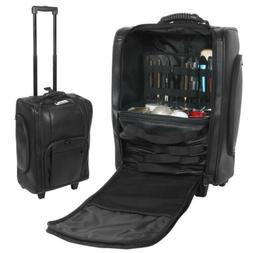 Rolling Makeup Case Travel Luggage Trolley Train Soft Storag