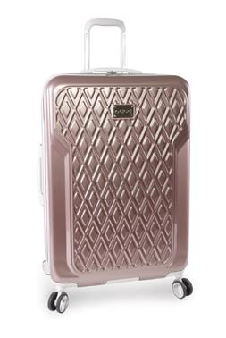 BEBE Rose Gold 29 in Hardside Spinner Suitcase Luggage Wheel