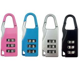 Home Travel Mini 3 Digit Combination Resetable Lock Suitcase
