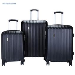 Set of 3 Luggage Set Travel Bag ABS Trolley Spinner Suitcase