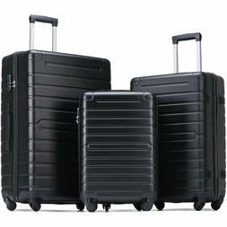 Flieks Luggage Sets 3 Piece Spinner Suitcase Lightweight 20