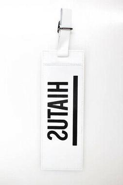 Longchamp Shayne Oliver Mens Luggage Tags White Black Leathe