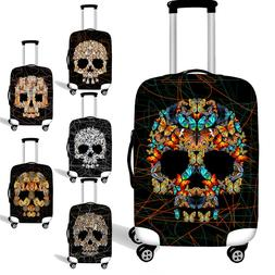 Skull Animal Dust-proof Case Womens Mens Luggage Cover Suitc