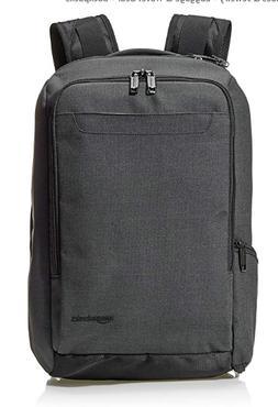 Amazon Basics Slim Carry On Travel Backpack Overnight Black