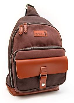 Sling Backpack Messenger Bag Crossbody Sling Bags Real Brown