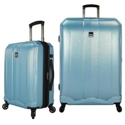 Smart Luggage Set with Carry-on Spinner and Built-In USB Por