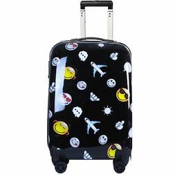 Smiley World Happy Travel 22 INCH CARRY ON PREMIUM HARD SIDE