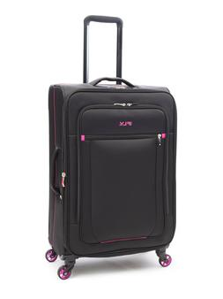 "iFLY Softside Luggage Glamour 24"", Black/Pink"