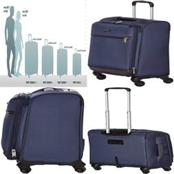 "Basics Softside Spinner Luggage 18"" Carry On/Cabin Size NAVY"