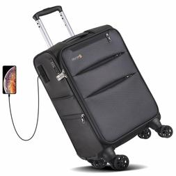 REYLEO Softside Spinner Luggage 20 Inch Carry On Luggage 8-W