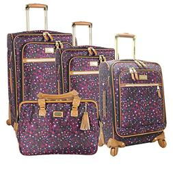NEW 4PC STEVE MADDEN SPINNER HONEY COLLECTION LUGGAGE SET $9