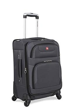 "SwissGear Spinner Luggage Collection Gray 20"" Spinner"