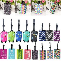 Suitcase Bag Tags Identify Label Luggage Mark Colorful Words