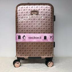 """BeBe Suitcase Luggage Tara Collection Rose Gold 21"""" Carry On"""