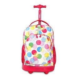 J World® Sunny Speckle Rolling Backpack