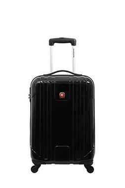SwissGear Wiese 20 Inch Hardside Spinner Suitcase, Black Fas