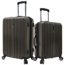 "Tasmania 2pc Brown 21""/25"" Polycarbonate Spinner Expandable"