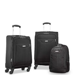 "Samsonite Tenacity 3 Piece Luggage Set - Black, Blue, 25"", 2"