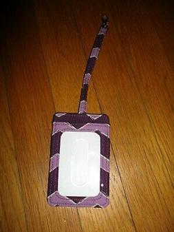 Thirty-One Purple Chevron Luggage Tag