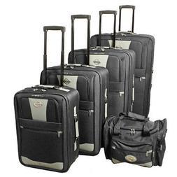 Transworld 5-piece Expandable Wheeled Upright Luggage Set -