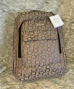 Calvin Klein Travel Backpack Luggage Laptop Sleeve Beige Kha