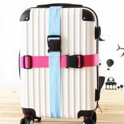 Travel Buckle Lock Tie Down Belt for Baggage Nylon Adjustabl