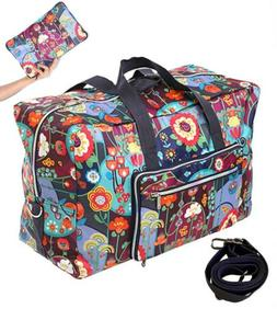 WFLB Travel Duffel Bag Foldable Large Weekend Checked Luggag