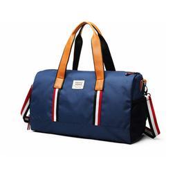 Travel Duffel Bag Leather Canvas Sports Gym Bag Weekender Ca