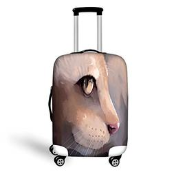 Travel Luggage Cover Suitcase Protector,Cat Lover Decor,Illu