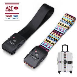 Adjustable TSA Approved Combination Luggage Travel Strap Loc