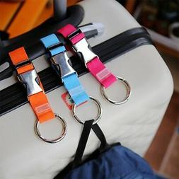 Travel Luggage Strap Metal Buckles Gripper Handbag Clip Hold